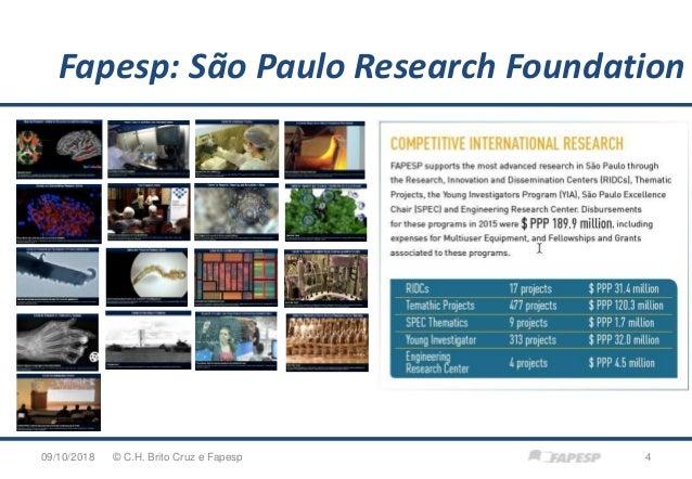 09/10/2018 4© C.H. Brito Cruz e Fapesp Fapesp: São Paulo Research Foundation