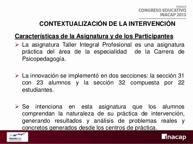 Competencias de la asignatura   Las competencias vinculadas con la asignatura de Taller  Integral son: 1. Comunicar ideas...