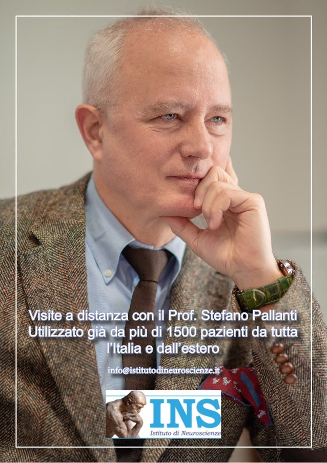 Visite a distanza con il Prof. Stefano Pallanti Utilizzato già da più di 1500 pazienti da tutta l'Italia e dall'estero inf...