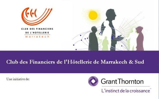 Club des Financiers de l'Hôtellerie de Marrakech - 5ème édition