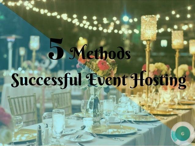Methods SuccessfulEventHosting 5