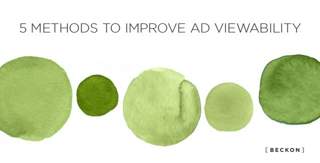5 METHODS TO IMPROVE AD VIEWABILITY