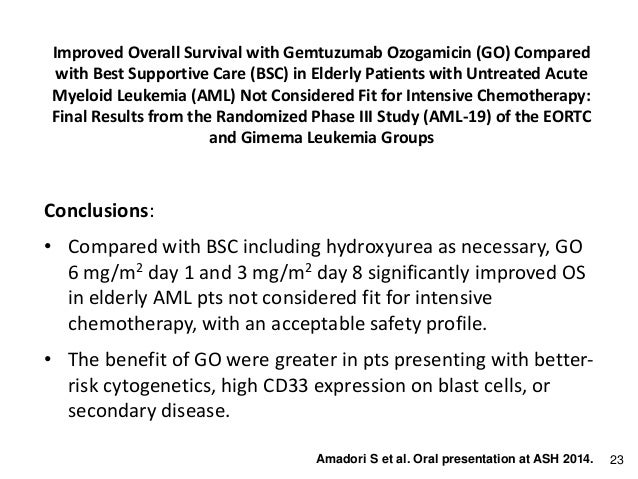 What are the statistics for leukemia in the elderly?
