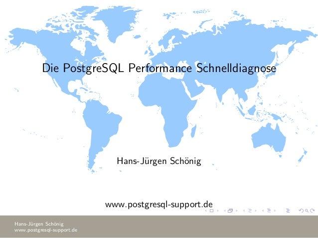 Die PostgreSQL Performance Schnelldiagnose Hans-J¨urgen Sch¨onig www.postgresql-support.de Hans-J¨urgen Sch¨onig www.postg...