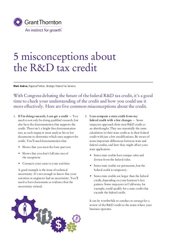 5 misconceptions about the R&D tax credit