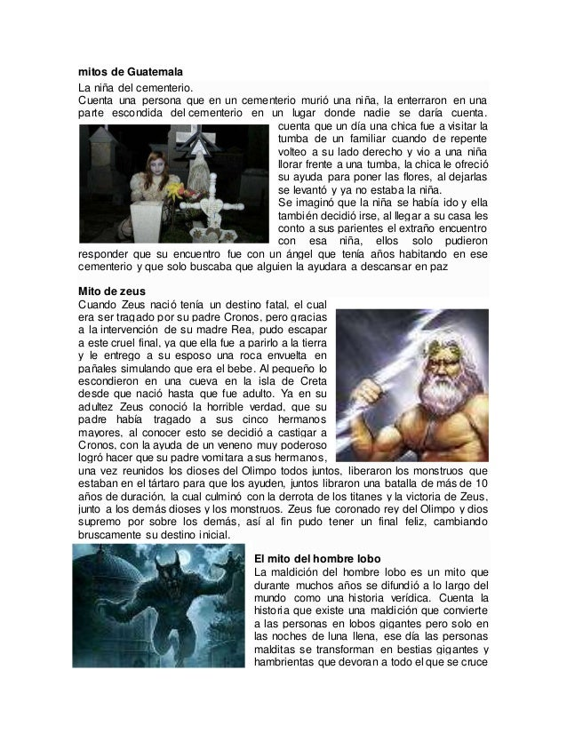 5 Mitos 5 Leyendas 5 Fabulas 5 Cuentos