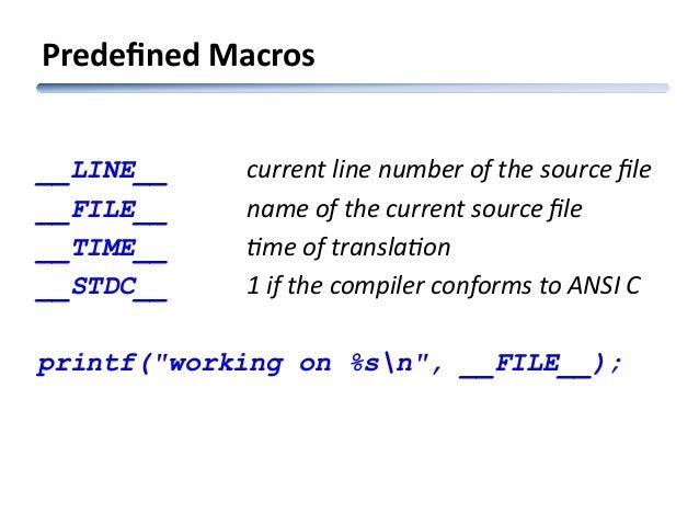 Module 05 preprocessor and macros in c Ansi c compiler online