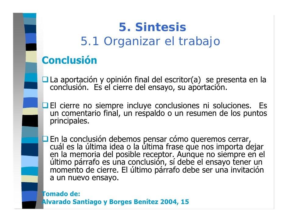 paso 5 ensayo sintesis