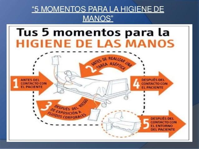 5 Momentos Del Lavado De Manos