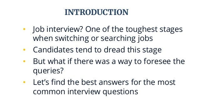 5 Most Common Interview Questions And Their Answers