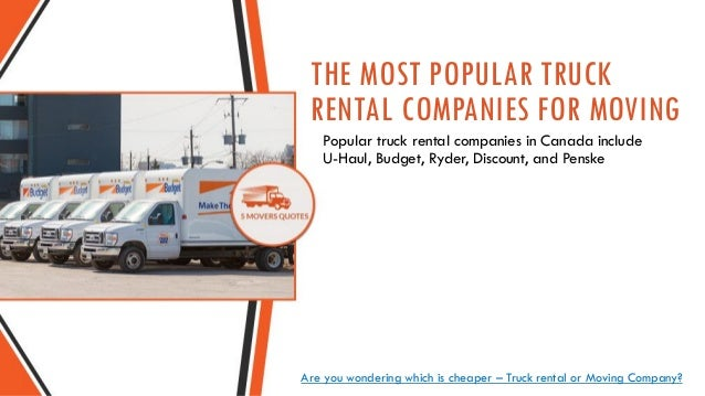 Moving Company VS Truck Rental Companies Like Uhaul Adorable Uhaul Rental Quote