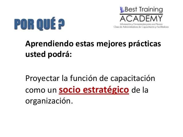 5 Mejores Prácticas de Administración de la Capacitación Slide 3