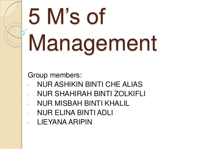 4 ms of management