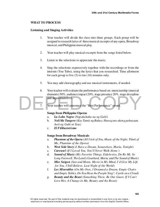 Lyric lyrics opera : 5 music grade 10 lm qtr 4 (8 apr 2015)