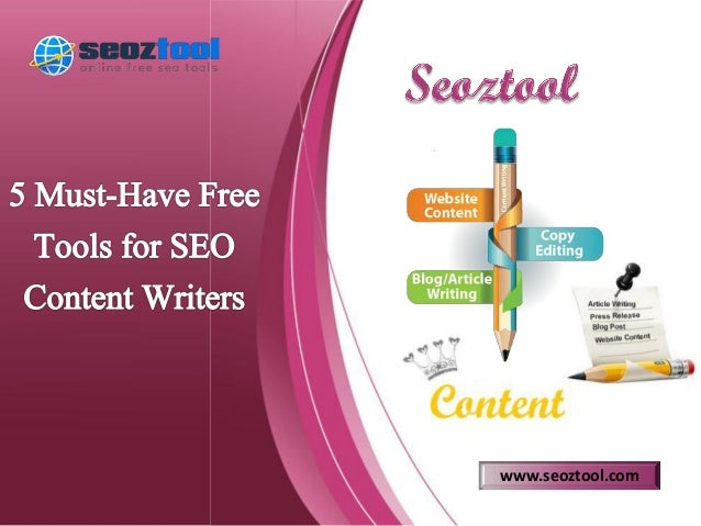 5 must have free tools for seo content writers