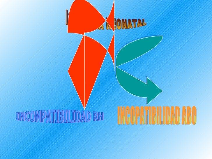 ICTERICIA NEONATAL INCOMPATIBILIDAD RH INCOPATIBILIDAD ABO