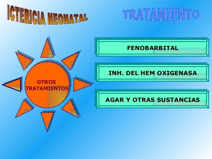 ICTERICIA NEONATAL TRATAMIENTO FENOBARBITAL INH. DEL HEM OXIGENASA AGAR Y OTRAS SUSTANCIAS OTROS  TRATAMIENTOS