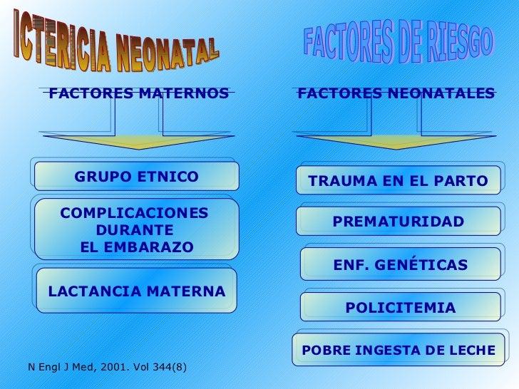 ICTERICIA NEONATAL FACTORES DE RIESGO FACTORES MATERNOS GRUPO ETNICO FACTORES NEONATALES COMPLICACIONES  DURANTE  EL EMBAR...