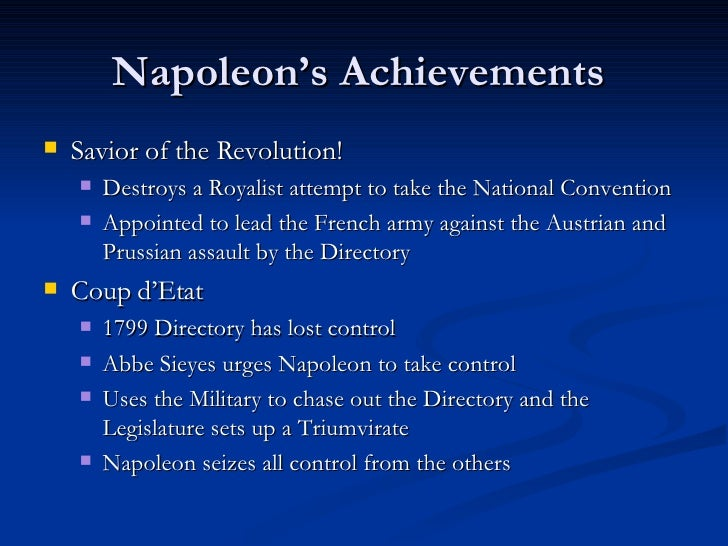 the military career and achievement of napoleon bonaparte Military career of napoleon bonaparte's wiki: the military career of napoleon bonaparte lasted over 20 years as emperor, he led.
