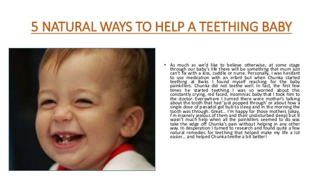 Natural Ways To Help Baby With Teething