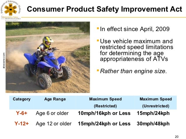 ATV Safety Summit: Vehicle Characteristics/Other Rulemaking