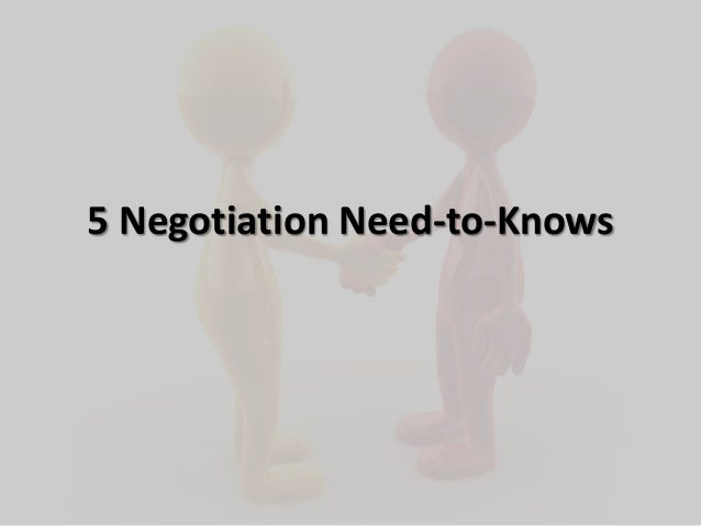 5 Negotiation Need-to-Knows