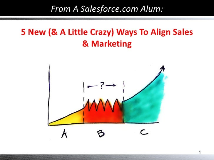 From A Salesforce.com Alum: 5 New (& A Little Crazy) Ways To Align Sales & Marketing