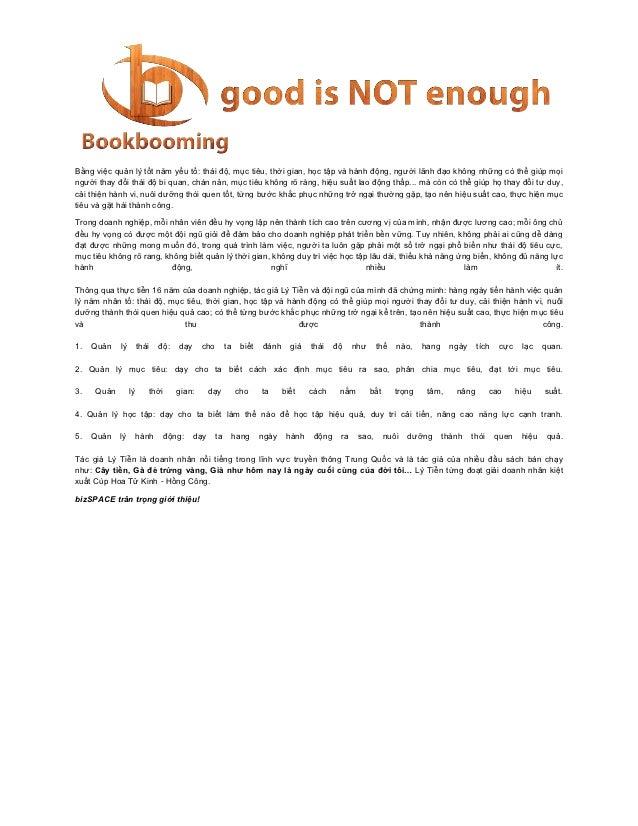Bằng việc quản lý tốt năm yếu tố: thái độ, mục tiêu, thời gian, học tập và hành động, người lãnh đạo không những có thể gi...