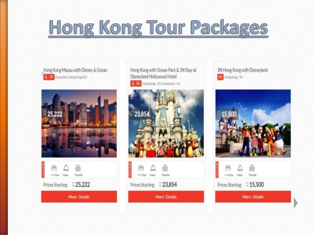 5 Night 6 Days Hong Kong Macau Disneyland Tour Package