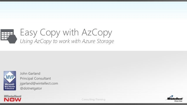 Easy Copy with AZ Copy