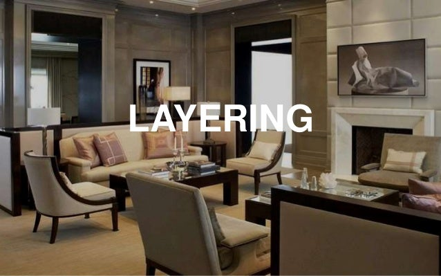 15 LAYERING 16 THINK OF INTERIOR DESIGN