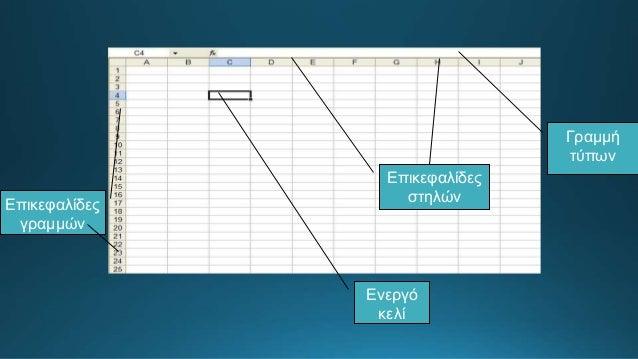 Μορφή δεδομένων Επιλογές στοίχισης και προσανατολισμού Τύπος, χρώμα, μέγεθος γραμματοσειράς Χρώμα, τύπος περιγράμματος Χρώ...