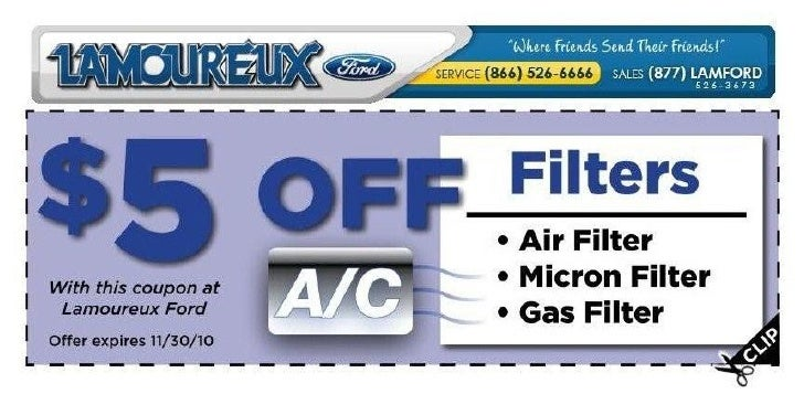 Lamoureux Ford AC Filter Special Brookfield MA