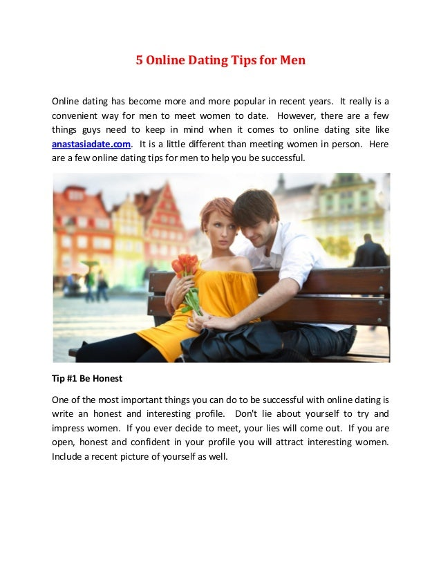 online dating tips for women from men without one