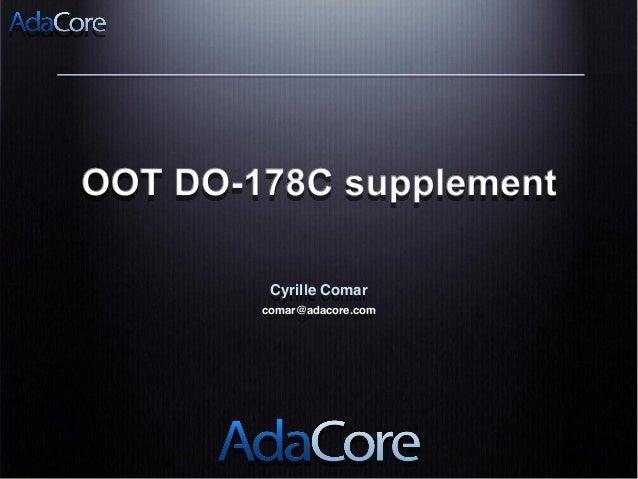 Cyrille Comar comar@adacore.com