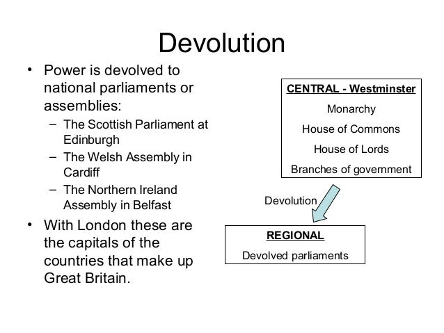 devolution of power Unit 4 review - unit 4 review devolution process of transferring some power from the central government to regional governments.