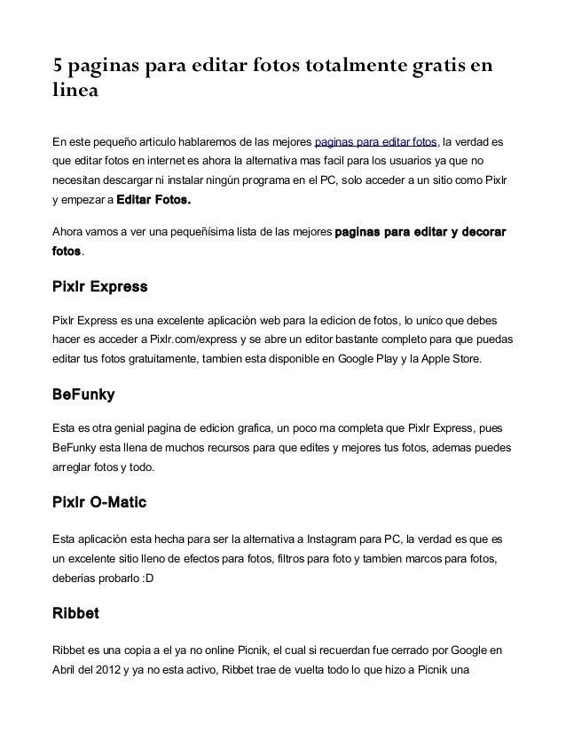 5 paginas para editar fotos gratis for Paginas para disenar