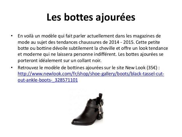Les bottes ajourées  • En voilà un modèle qui fait parler actuellement dans les magazines de  mode au sujet des tendances ...