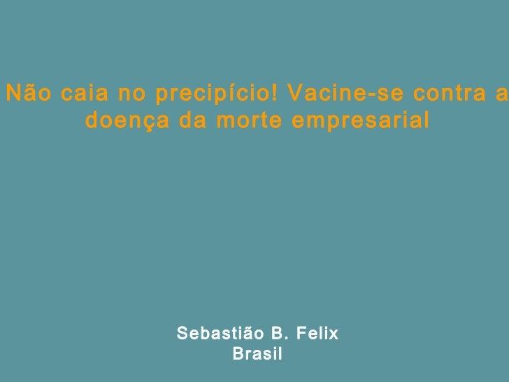 Não caia no precipício! Vacine-se contra a      doença da morte empresarial              Sebastião B. Felix               ...