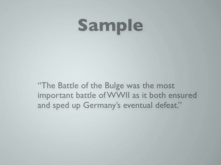 Battle of the Bulge - Research Paper Example