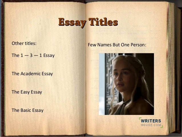 paragraph essay important things you need to know essay titlesessay titles