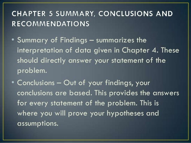 WRITING CHAPTER 5: DISCUSSION AND RECOMMENDATIONS