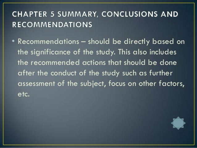 recommendation part of a research paper Paper masters dicusses how to properly write conclusions and recommendations for research papers the conclusions and recommendations  totally or in part,.