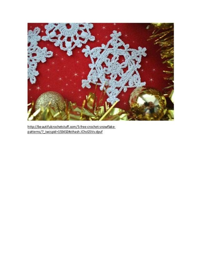 ganchillo 5 patrones de copo de nieve