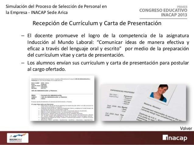 Simulación del Proceso de Selección de Personal en la Empresa - INACAP Sede Arica  Test Técnico – Docente elabora instrume...