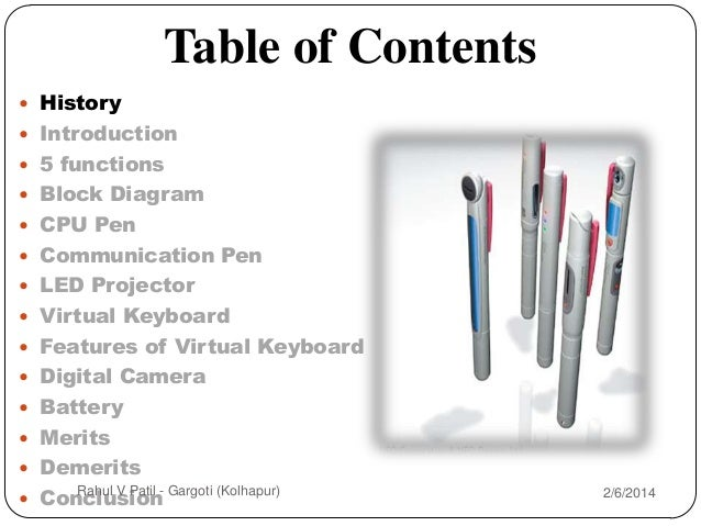2  table of contents  history  introduction  5 functions  block  diagram  cpu pen