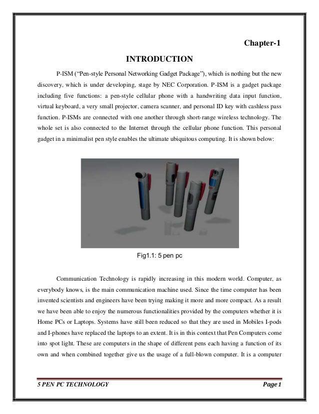 5 pen pc technology essay