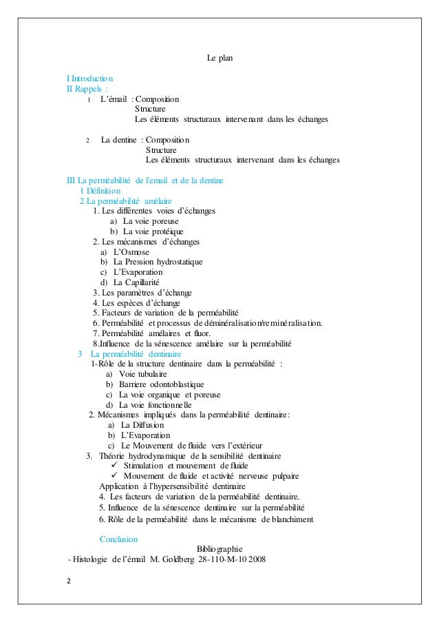 2 Le plan I Introduction II Rappels : 1 L'émail : Composition Structure Les éléments structuraux intervenant dans les écha...