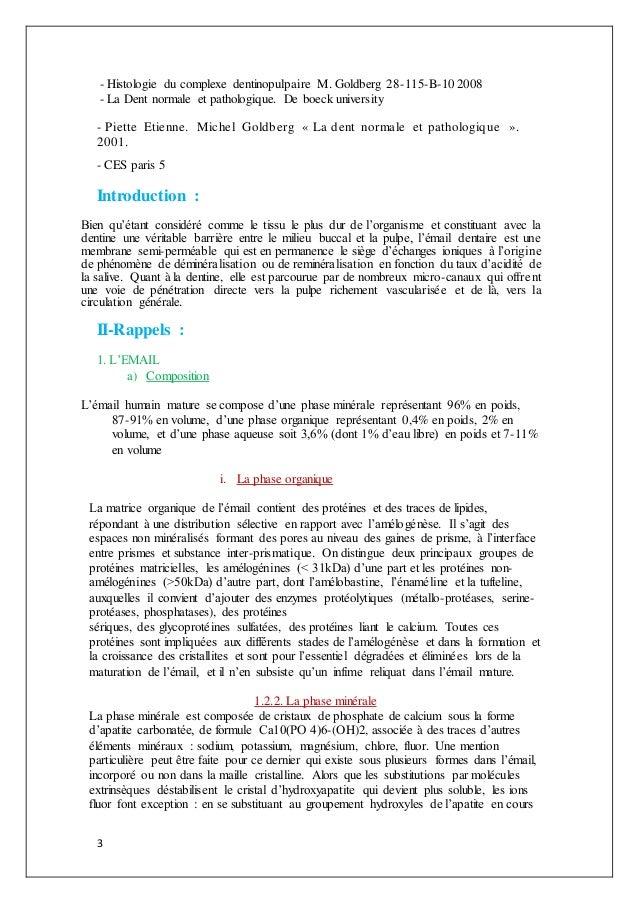 3 - Histologie du complexe dentinopulpaire M. Goldberg 28-115-B-10 2008 - La Dent normale et pathologique. De boeck univer...