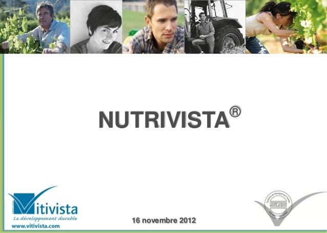 ®NUTRIVISTA  16 novembre 2012